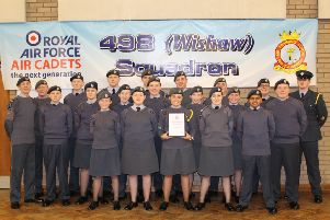 The 498 (Wishaw) Squadron of the Royal Air Force Air Cadets has been voted as the winners of the West of Scotland Wing Efficiency Trophy