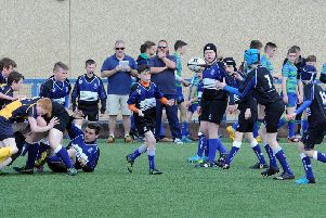Dalziel S2s in action in their home tournament (Pic by Alan Watson)