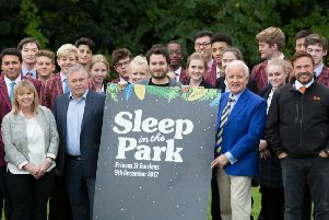 2,000 Sleep in the Park places gifted by Scotland's top philanthropists