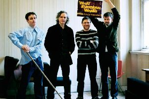 Gerry Love (left) will play his final gig as a member of Teenage Fanclub this November