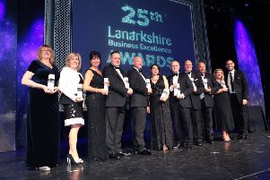 Last year's winners in the Lanarkshire Business Excellence Awards