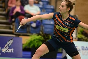 Kirsty Gilmour on her way to victory at Scottish Nationals