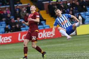 Jake Hasties impressive form for Motherwell has seen him linked with a summer move away from Fir Park (Pic by Ian McFadyen)