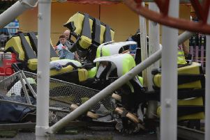 The Tsunami rollercoaster crashed in the summer of 2016 injuring nine people. Pic: SWNS
