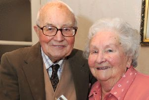 Anne Thurley, with Sam, her husband of 67 years