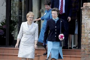 Strathcarron Hospice chief executive Irene McKie with Princess Anne during a visit last year