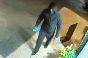 Bothwell restaurant San Vincenzo published CCTV images of a hooded suspect seen holding spray paint on its Facebook page