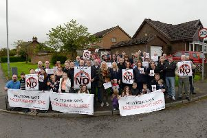 The Holytown Says No campaign against the planned link road to Eurocentral attracted massive support from across the village