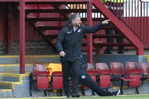 Robbo encouraging his troops against St Mirren last Saturday (Pic by Ian McFadyen)