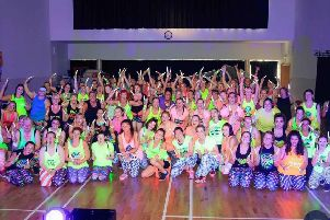 The clubbers grabbed their glow sticks for a good cause