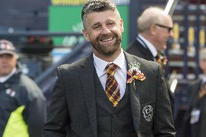 Stephen Robinson pictured on the day he led out Motherwell for the 2018 William Hill Scottish Cup final at Hampden (Pic by Ian McFadyen)