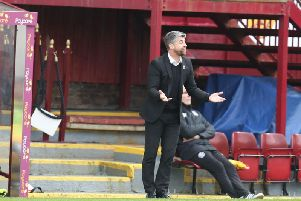 Motherwell gaffer Stephen Robinson pictured during the last meeting with Hearts on February 17, which the Steelmen won 2-1 thanks to goals by Jake Hastie and David Turnbull (Pic by Ian McFadyen)