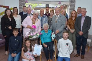 Celebration in Motherwell as Margaret turns 100 years young!
