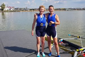 Gillian Connal (right) is pictured with Strathclyde Park Rowing Club team-mate Ailie Ord (Submitted pic)
