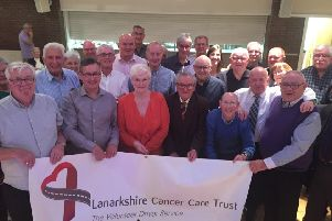 Lanarkshire Cancer Care Trust volunteers at the 'Thank You Night'