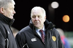 This incredible encounter saw Motherwell - managed by Craig Brown (pictured) - trail 6-2 after 65 minutes yet fight back to earn a sensational 6-6 draw - despite Ross Forbes having a penalty saved - thanks to a last gasp volley by Lukas Jutkiewicz.