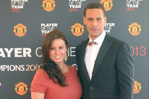 Rio Ferdinand with his wife Rebecca Ellison, who died last night following a battle with cancer. Picture: PA