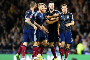 Scotland face Poland at Hampden on October 8. Picture: Michael Gillen