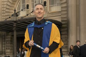 Alan Cumming outside the Usher Hall. Photograph: Andrew O'Brien