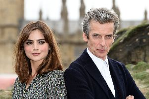 Doctor Who stars Peter Capaldi and Jenna Coleman. Picture: PA