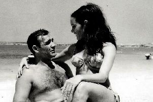 A still from Thunderball, one of the James Bond films featured in the colletion of rare cinema cards