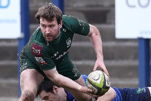 Lee Armstrong made a whirlwind start for Hawick with a try, conversion and penalty. Picture: