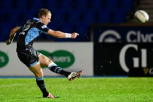 Gregor Hunter kicked three conversions for Hawks. Picture: Bill Murray/SNS/SRU