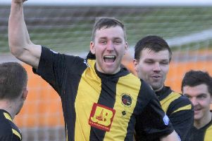 Darren Lavery netted as Berwick leapt off the bottom of the table. Picture: Stuart Cobley