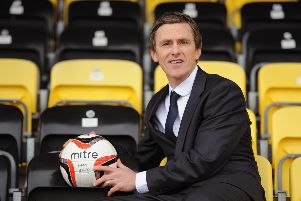 East Fife boss Gary Naysmith.