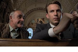 Sir Sean Connery and Kevin Costner in The Untouchables. Picture: YouTube