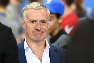 France's coach Didier Deschamps watched his side lose to Portugal in the final. Picture: AFP/Getty Images