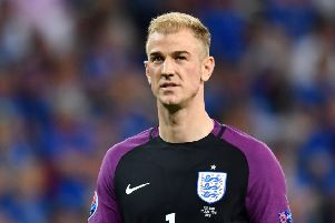Joe Hart: At fault for two goals conceded by England. Picture: AFP/Getty