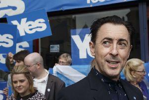 Alan Cumming was a vocal supporter of the Yes Campaign in the independence referendum. Picture: Robert Perry