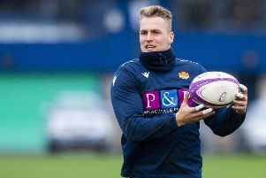 Edinburgh's Duhan van der Merwe has signed a new deal after overcoming fitness issues in 2017. Picture: Ross Parker/SNS/SRU