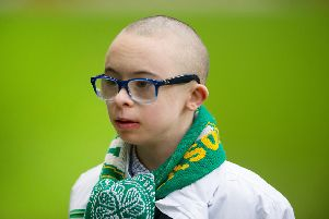 Celtic superfan Jay Beatty. Picture: John Devlin