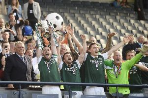 Can Hibs defend the Scottish Cup? Picture: Greg Macvean