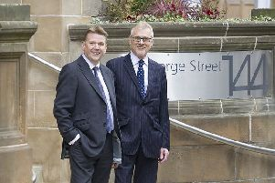 Bruce Stevenson chief executive Edward Bruce, left, and commercial director Andrew Adam. Picture: Contributed