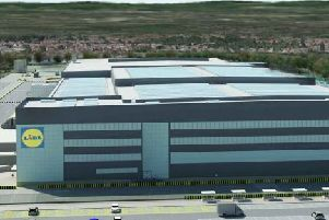 The Lidl distribution centre could help the grocer create up to 360 jobs. Picture: Contributed