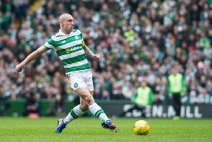 "12/03/17 .  GLASGOW. CELTIC PARK. PARKHEAD.'SCOTTISH PREMIERSHIP. Celtic v Rangers. Celtic�""s  Scott Brown in action."
