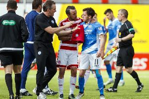 Danny Swanson was involved in a fight with St Johnstone team mate Richard Foster. Pic: SNS/Roddy Scott