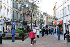 "Falkirk High Street. Smaller town centres are in danger of being ""hollowed out"" as store closures mount, a report has warned. Picture: John Devlin"