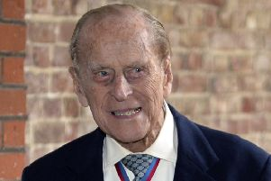 Prince Philip arrives at Chapel Royal in St James's Palace, London, for an Order of Merit service. Picture: AP