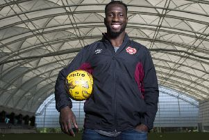 Esmael Goncalves memorably lifted the League Cup with St Mirren in 2013. Picture: SNS.