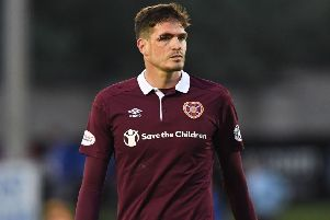 Kyle Lafferty says Hearts must learn from defeat at Peterhead. Picture: SNS.