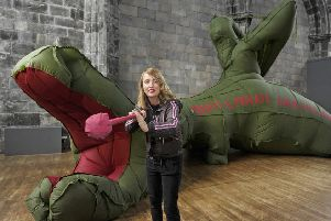 A dragon sculpture was Zoe Walker's contribution (with Neil Bromwich). Picture: Neil Hanna
