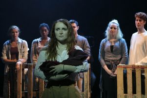 Atlantic: A Scottish Story. 'Caroline Lyell as Evie. 'Photo by RCS/Julie Howden