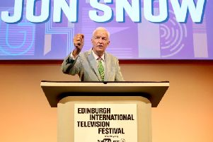 Channel Four news anchor Jon Snow opened the Edinburgh International Television Festival.