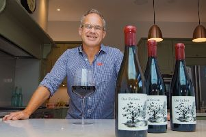 Giles Cooke is donating the profits from his wine to charity