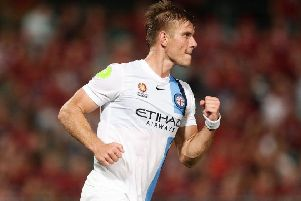 Erik Paartalu in action for Melbourne FC in Australia. Picture: Getty Images