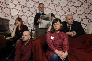 Carey Lander (top left) with the Glasgow indiepop group Camera Obscura. The keyboard player died in 2015. Picture: Robert Perry/TSPL